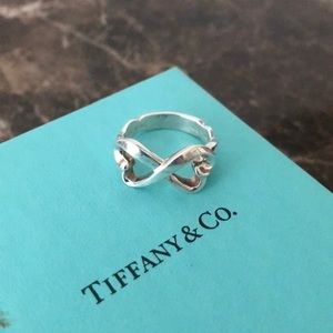 Tiffany and co double heart ring